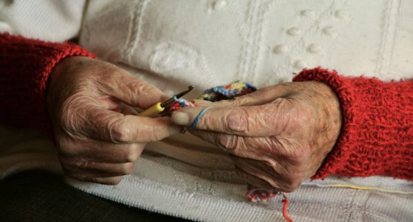 Picture of older person's hands